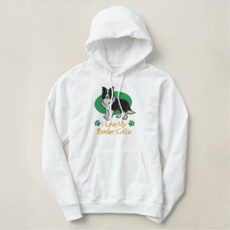 Border Collie Shirt #2 Embroidered Hoodie