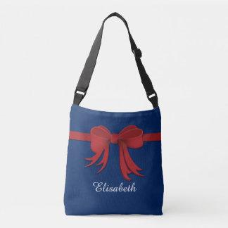Border Ribbon red gradients + your ideas Crossbody Bag
