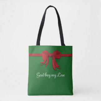 Border Ribbon red gradients + your ideas Tote Bag