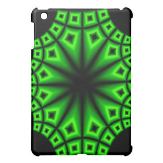 Borg Green Fractal Star iPad Mini Cases