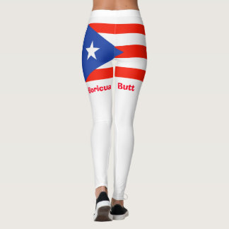 Boricua Butt! Puerto Rican Flag 4Julia Leggings