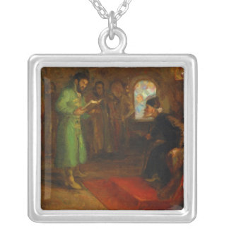 Boris Godunov with Ivan the Terrible Silver Plated Necklace