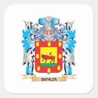 Borja Coat of Arms Square Sticker