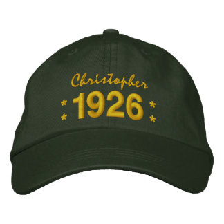 Born in 1926 or Any Year 90th Birthday V04 GREEN Embroidered Hat
