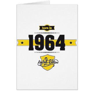 born in 1964 (choco&yellow) card