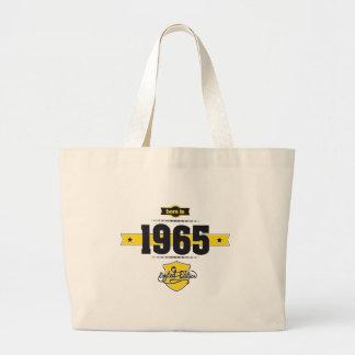 born in 1965 (choco&yellow) large tote bag