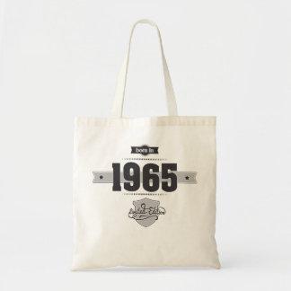 Born in 1965 (Dark&Lightgrey) Tote Bag