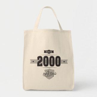 Born in 2000 (Dark&Lightgrey) Canvas Bag
