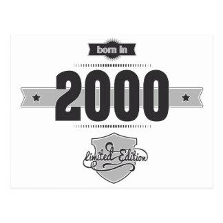 Born in 2000 Dark Lightgrey Postcards