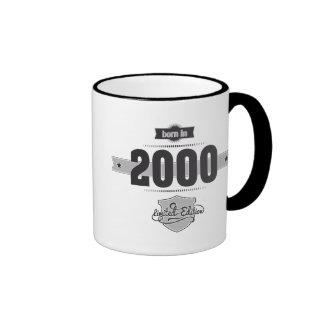 Born in 2000 (Dark&Lightgrey) Ringer Mug