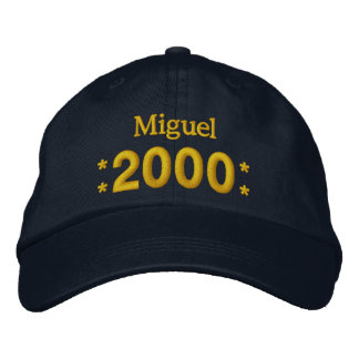 Born in 2000 or Any Year Birthday W01H NAVY Embroidered Hat