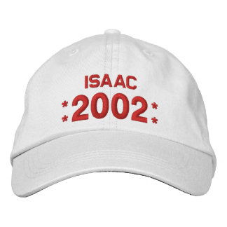 Born in 2002 or Any Year Birthday W03H WHITE Embroidered Baseball Cap