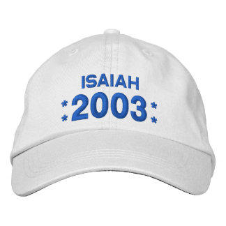 Born in 2003 or Any Year Birthday W04H WHITE Embroidered Hat