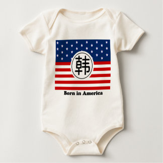 Born in America Baby Shirt - Chinese Surname Han