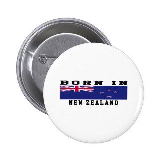 Born In New Zealand 6 Cm Round Badge