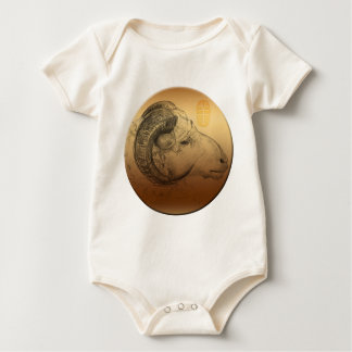 Born in Ram Chinese Year Zodiac Baby Bodysuit