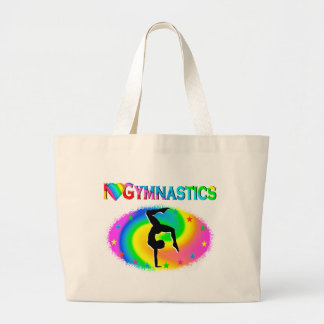 BORN TO BE A GYMNAST CHAMPION LARGE TOTE BAG