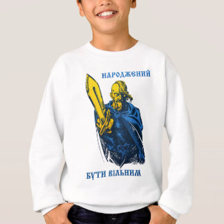 Born to be free Ukrainian Cossack Sweatshirt