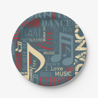 Born to Dance Blue ID277 Paper Plate