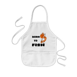 Born To Fish Kids Apron