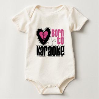 Born to Karaoke Heart Baby Bodysuit