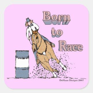 Born To Race Barrel Horse Sticker