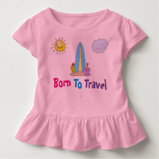 """Born To Travel"" Toddler Girls' Ruffle T-Shirt"
