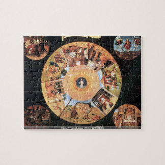 Bosch - Table with scenes of the seven deadly sins Jigsaw Puzzle