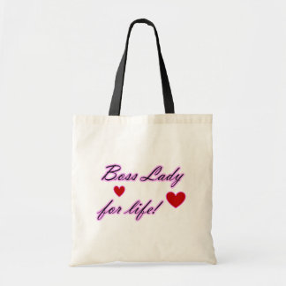 Boss Lady For Life Hearts Budget Tote Tote Bag