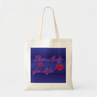 Boss Lady For Life Hearts Budget Tote Tote Bags