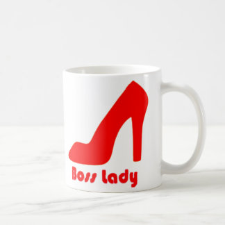 Boss Lady Red Pump Basic White Mug