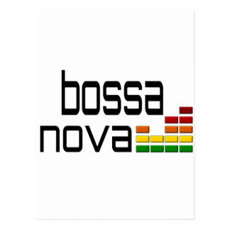 Bossa Nova Music with Stereo Equalizer Post Card