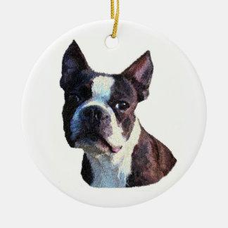 Boston Bull Terrier Ornament