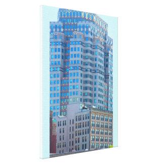 "Boston City Architecture 18"" x 24"" Wrapped Canvas"