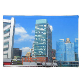 Boston City Buildings n Urban Landscape Placemat