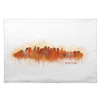 Boston City Massachusetts skyline v3 Placemat
