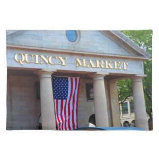 BOSTON City QUENCY Market Bus Tour views Placemat