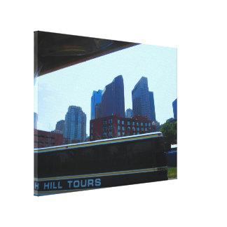 "Boston City Skyline 24"" x 18"" Wrapped Canvas"