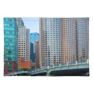 Boston  city Urban Landcape towers arcchitecture Placemat