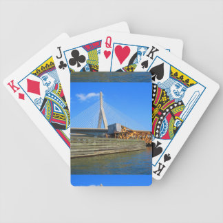 Boston City USA America Bridge view from Bus Tour Bicycle Playing Cards