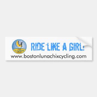 Boston LUNA Chix Bumper Sticker
