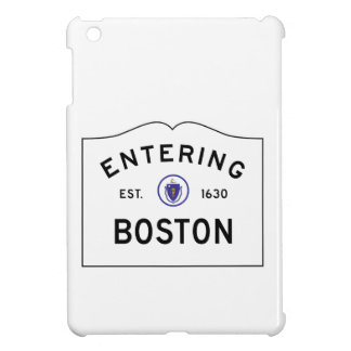 Boston Mass. Road Sign Cover For The iPad Mini