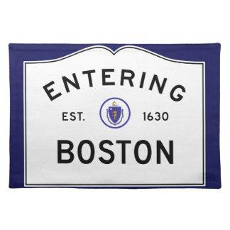 Boston Massachusetts Road Sign Placemat