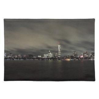 Boston Skyline at Night Placemat