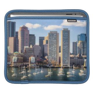 Boston skyline from waterfront iPad sleeve