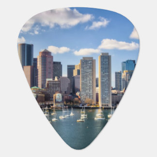 Boston skyline from waterfront plectrum