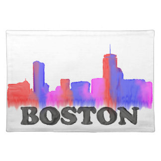 Boston Skyline watercolor Placemat