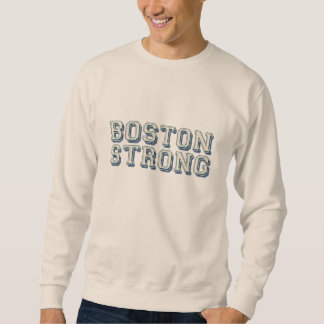 Boston Strong Embossed Cream Style Sweatshirt