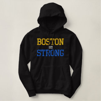 Boston Strong Embroidered Hoodie