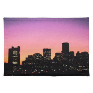 Boston Sunset Skyline From The Harbor .png Placemat